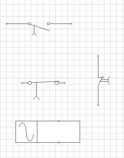 如何在CAD中画继电器触点